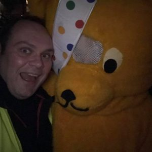 Tim with Pudsey